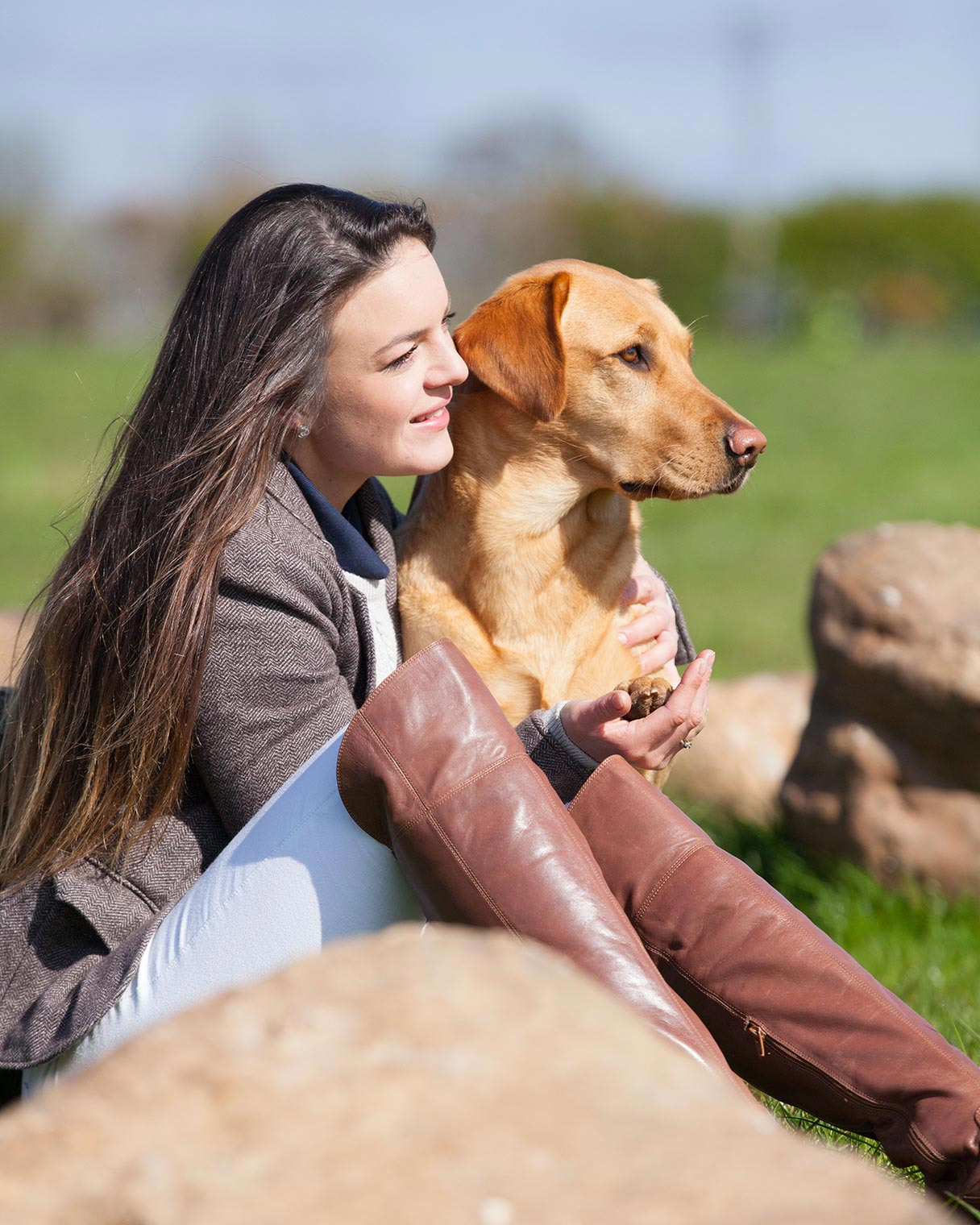 Photo shoot: woman with her dog